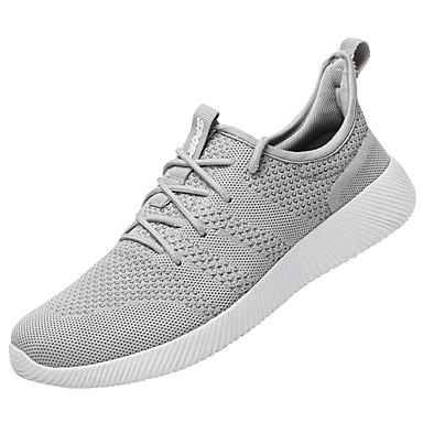 Women's Shoes Breathable Mesh PU Spring Summer Comfort Light Soles Athletic Shoes Flat Heel Round Toe Lace-up For Casual Outdoor Black