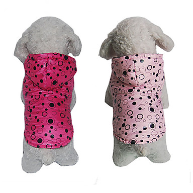 Dog Hoodie Dog Clothes Polka Dot Fuchsia Pink Cotton Costume For Pets Casual / Daily