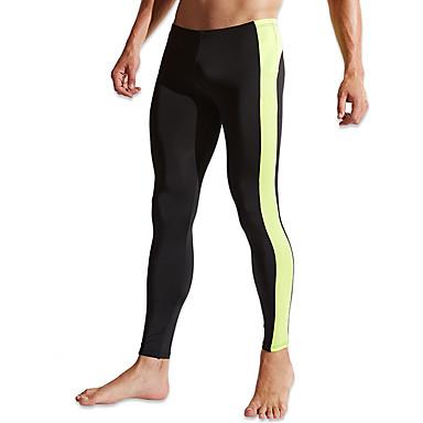 Homens Leggings de Corrida Secagem Rápida Respirável Confortável Meia-calça Calças Exercício e Atividade Física Corrida Poliéster Preto