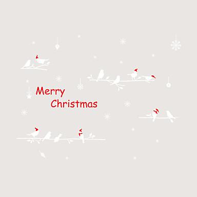 Window Film Window Decals Style Christmas Birdie on The Tree PVC Window Film