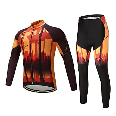 Cycling Jersey with Tights Unisex Long Sleeves Bike Clothing Suits Bike Wear Ventilation Quick Dry Cycling / Bike