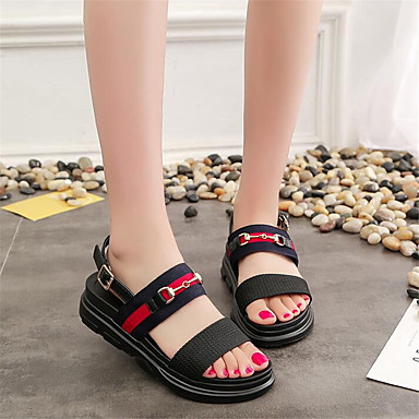Women's Shoes PU Spring Comfort Sandals For Casual Black