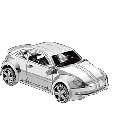 3D Puzzles Metal Puzzles Toys Car 3D Furnishing Articles DIY Chrome Metal Not Specified Pieces