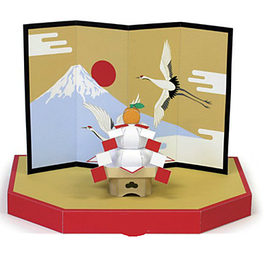 3D Puzzles Paper Model Paper Craft Model Building Kit Furnishing Articles DIY Classic Chinese Style Unisex Gift