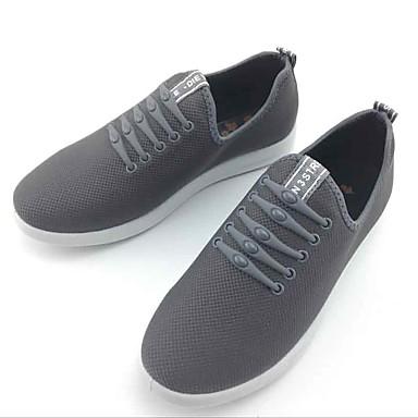 Miesten kengät Kangas Kevät Syksy Comfort Mokkasiinit Kävely varten Kausaliteetti ulko- Musta Harmaa