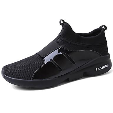 Herre sko PU Vår Høst Komfort Treningssko til utendørs Svart Grå Rød