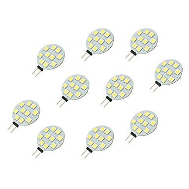 10pçs 2 W 160 lm G4 Luminárias de LED  Duplo-Pin 10 Contas LED SMD 5050 Branco 12 V / 10 pçs