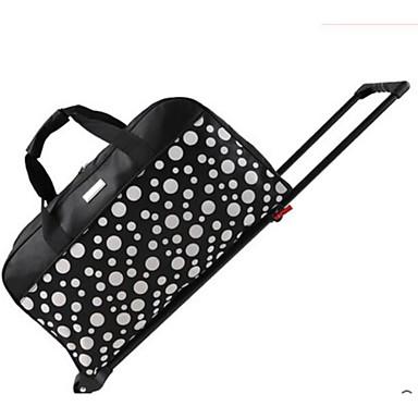 Unisex Travel Bag Polyester All Seasons Casual Outdoor Rectangle Zipper Black Fuchsia Arm Green