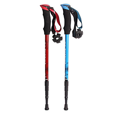 3pcs Nordic Walking Poles 110cm (43 Inches) Damping Durable Flexible Aluminum Alloy 6061