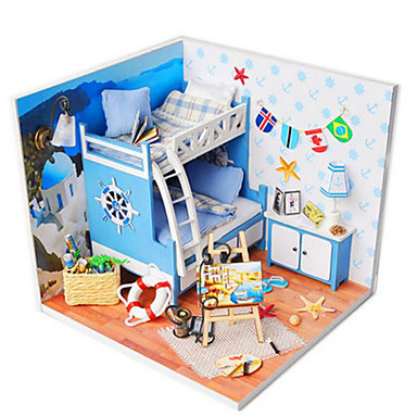 Model Building Kit Toys DIY House Plastics Pieces Unisex Birthday Gift