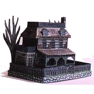 Quebra-Cabeças 3D Maquetes de Papel Artesanato de Papel Brinquedos de Montar Quadrada Construções Famosas Fantasma Arquitetura Faça Você