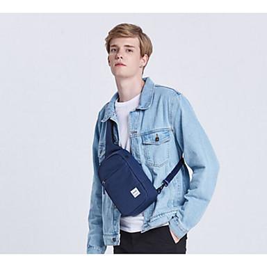 Unisex Slynge Skuldervesker Polyester Alle årstider Avslappet Glidelås Svart Lysegrå Navyblå