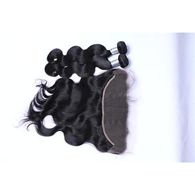 Brazil haj Hullámos haj Emberi haj sző 3 darab Az emberi haj sző