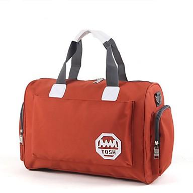 Women Travel Bag Oxford Cloth All Seasons Casual Outdoor Weekend Bag Zipper Blue Orange Purple