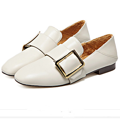 Naiset Kengät PU Kevät Comfort Mokkasiinit Käyttötarkoitus Kausaliteetti Valkoinen