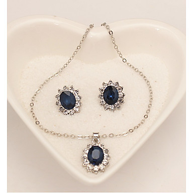 Women's Jewelry Set - Dangling Style Include Blue For Wedding / Party / Special Occasion / Anniversary / Birthday