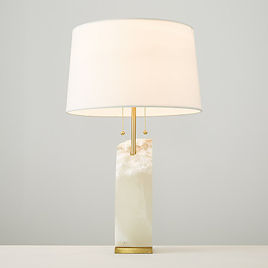 Modern Style Creative Luxury Electroplate Marble Table Lamp for the Bedroom /Study Room / Hotel Decorate Europe Style Dest Light