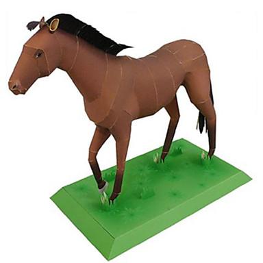 Quebra-Cabeças 3D Maquetes de Papel Brinquedos de Montar Quadrada Cavalo Animais Faça Você Mesmo Cartão de Papel Duro Clássico Para