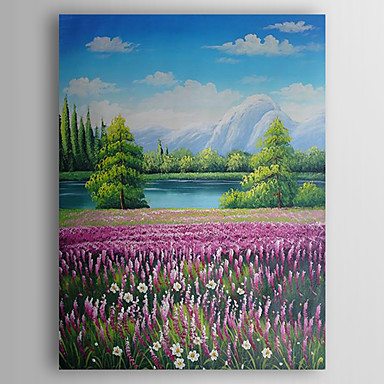 Hand-Painted  Decoration Landscape  Oil Painting With Stretcher For Home Decoration Ready to Hang