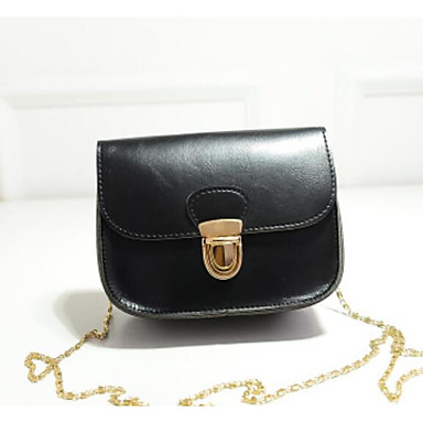 Women Shoulder Bag leatherette All Seasons Casual Outdoor Square Snap Black Fuchsia Amethyst