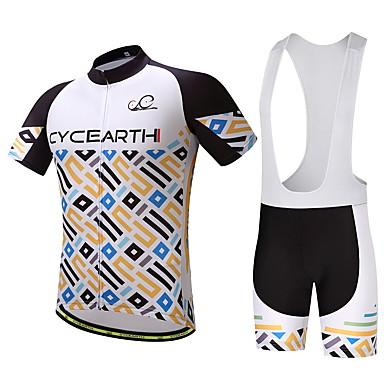 Cycling Jersey with Bib Shorts Men's Bike Clothing Suits Bike Wear Ventilation Quick Dry Back Pocket Cycling / Bike
