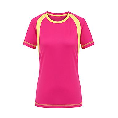 Női Planinarska majica Külső Gyors szárítás Ultraibolya biztos Viselhető Póló Felsők Kempingezés és túrázás Vadászat Mászás