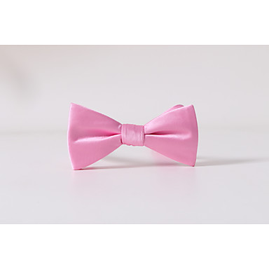 Men's Polyester Bow Tie,Solid Casual Solid All Seasons Blushing Pink
