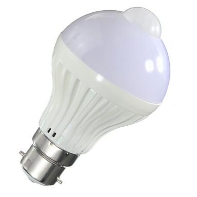 1db 5 W 500 lm B22 / E26 / E27 Okos LED izzók A60(A19) 10 LED gyöngyök SMD 5730 Érzékelő / Infravörös érzékelő / fényvezérlő Meleg fehér / Hideg fehér 85-265 V / 1 db. / RoHs
