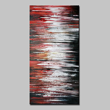 Hand-Painted Abstract Vertical, Abstract Modern Canvas Oil Painting Home Decoration One Panel