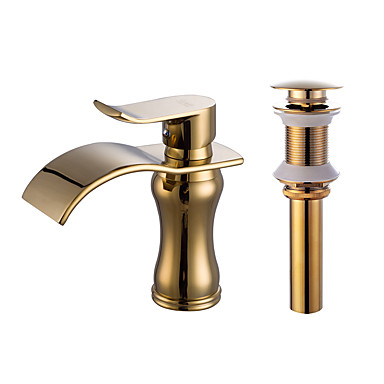 Faucet Set - Waterfall Gold Centerset One Hole