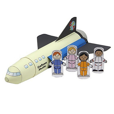 Toy Cars 3D Puzzles Paper Model Plane / Aircraft Train Ship Bus Spacecraft Aviator DIY Classic Train Police car Ambulance Vehicle Unisex