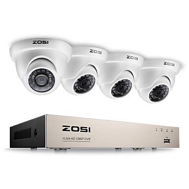 Zosi® 2.0mp 1080p hd 4 ch dvr tvi kit de vigilância 4pcs 2000tvl exterior ir câmera de visão noturna cctv sistema
