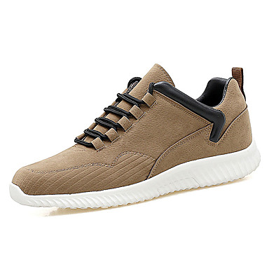 Men's Shoes Rubber Spring Fall Comfort Sneakers Lace-up for Outdoor Black Gray Khaki