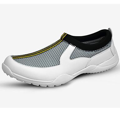 Sapatos para Golf Homens Golf Vestível Respirável Treinamento Casual Esportes Espetáculo Praticar Esportivo Lycra Borracha