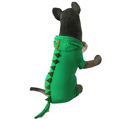 Cachorro Fantasias Roupas para Cães Animal Verde / Rosa claro Plumagem / Algodão Ocasiões Especiais Para animais de estimação Homens / Mulheres Dia Das Bruxas