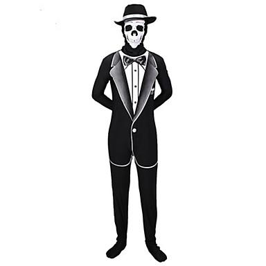 Zentai Suits Morphsuit Cosplay Zentai Cosplay Costumes Black Patchwork Leotard Zentai Polyester Men's Halloween Christmas