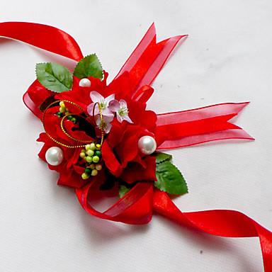 Wedding Flowers Wrist Corsages Wedding Chiffon Silk Cotton Satin 1.97