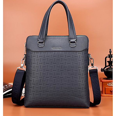 Men Bags All Seasons Cowhide Briefcase for Casual Outdoor Blue Black Brown