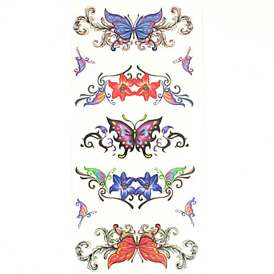 Pattern / Lower Back / Waterproof Hand / Arm / Wrist Temporary Tattoos 1 pcs Totem Series / Animal Series Body Arts
