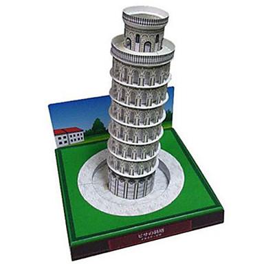 voordelige 3D-puzzels-3D-puzzels Bouwplaat Modelbouwsets Toren Beroemd gebouw Scheve toren van Pisa DHZ Hard Kaart Paper Klassiek Kinderen Unisex Jongens Meisjes Speeltjes Geschenk