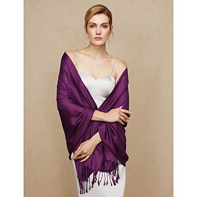 Cotton Wedding / Party / Evening Women's Wrap With Tassel Shawls