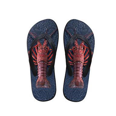 Women's Slippers & Flip-Flops Comfort Summer PVC Casual Blue Flat