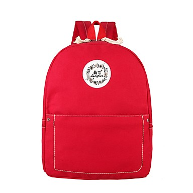 Women's Bags Canvas Backpack for Casual All Seasons Black Red Beige Gray khaki