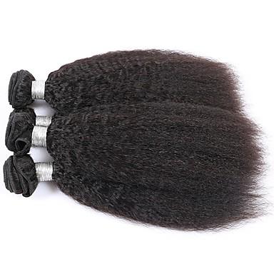 Cabelo Indiano Yaki Tramas de cabelo humano 3 Cabelo Humano Ondulado