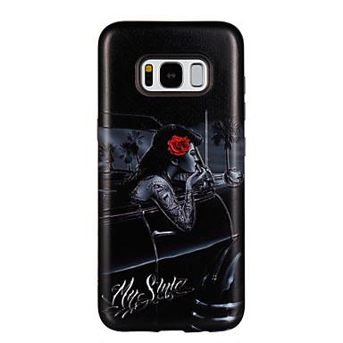 Capinha Para Samsung Galaxy S8 Plus S8 Antichoque Estampada Capa traseira Palavra / Frase Mulher Sensual Flor Rígida PC para S8 Plus S8