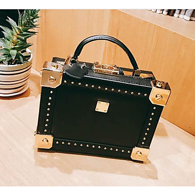 Women Shoulder Bag Cowhide All Seasons Casual Outdoor Square Clasp Lock White Black Blushing Pink