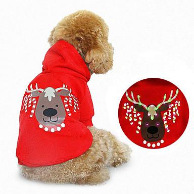 Hund Hettegensere Hundeklær Jul Reinsdyr Rød