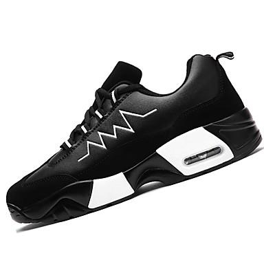 Mulheres Sapatos Borracha Primavera Outono Sapatos de Berço Tênis Sem Salto Ponta Redonda Cadarço para Ao ar livre Fúcsia Branco/Preto