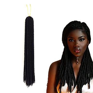 Braiding Hair Curly / Crochet Dreadlocks / Faux Locs / Hair Accessory / Human Hair Extensions 100% kanekalon hair 24 roots / pack Hair Braids Dreadlock Extensions / Dreads Locs / Crochet Faux Dreads