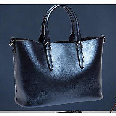 Women Shoulder Bag Cowhide All Seasons Casual Outdoor Square Zipper Blue Silver